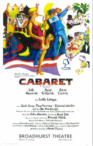 Cabaret 14x22 Broadway Show Poster (1966)