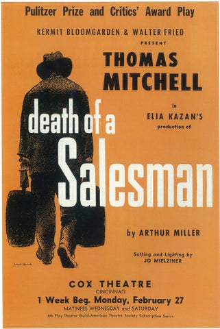 Death Of A Salesman 11x17 Broadway Show Poster (1949)