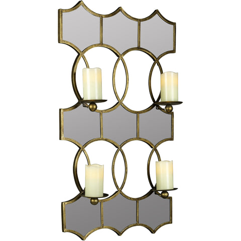Lia Wall Mirror Candle Holder