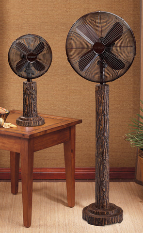 Fir Bark Table Fan