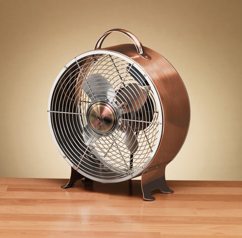 Copper Retro Metal Table Fan
