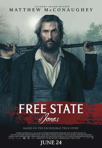 Free State of Jones (2016) 27x40 Movie Poster