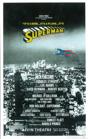 Superman 14x22 Broadway Show Poster (1966)