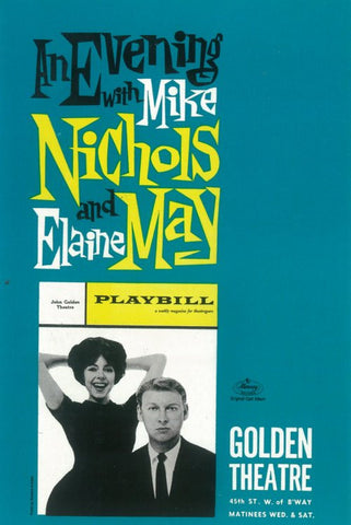 Evening with Mike Nichols and Elaine May 11x17 Broadway Show Poster (1960)