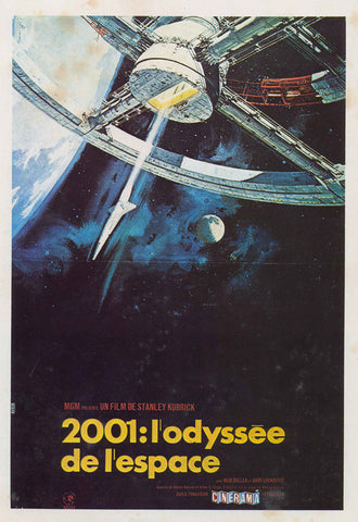 2001: A Space Odyssey (French) 11x17 Movie Poster (1968)