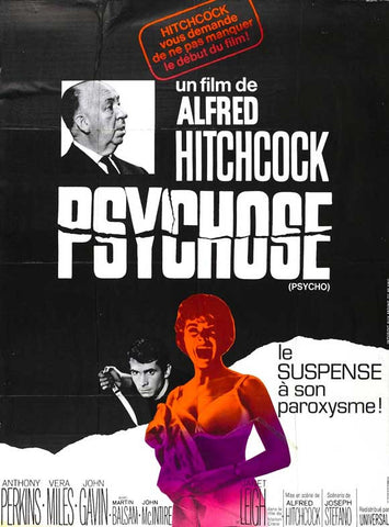Psycho (French) 11x17 Movie Poster (1965)