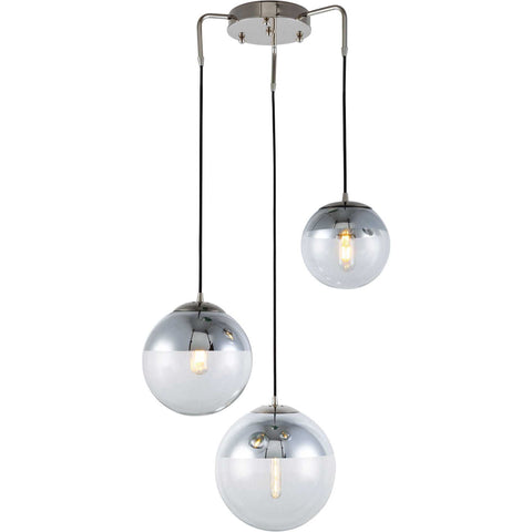 Beckett 3-Light Chandelier, Polished Nickel Finish