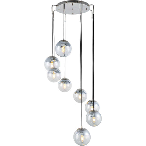 Beckett 8-Light Chandelier, Polished Nickel Finish