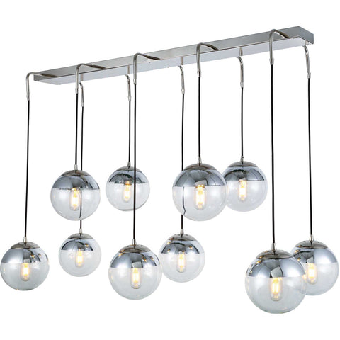 Beckett 10-Light Chandelier, Polished Nickel Finish