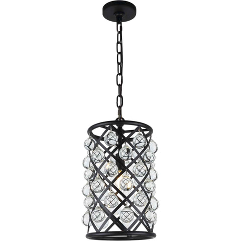 Madison 1-Light Pendant, Mocha Brown Finish, Clear Crystal, Royal Cut