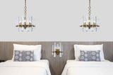 Lincoln 2-Light Wall Sconce, Burnished Brass Finish, Clear Crystal, Royal Cut