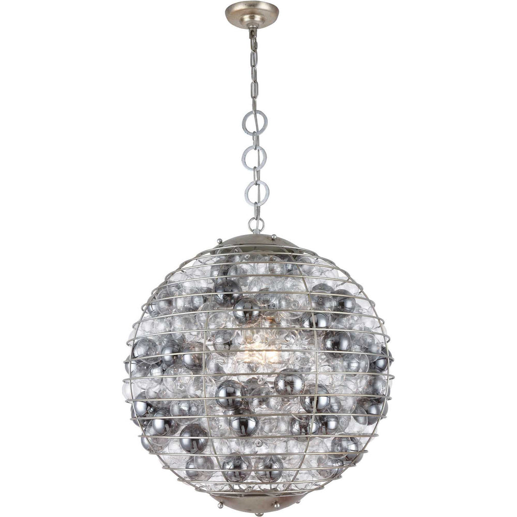 silver leaf chandelier branch shallow french zoom antique style