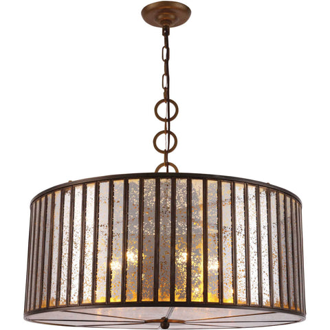 Frisco 6-Light Chandelier, Dark Antique Brass Finish