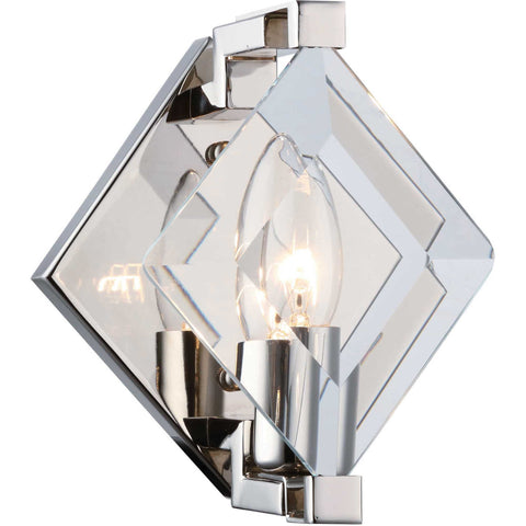 Maxwell 7-Light Wall Sconce, Burnished Brass Finish, Clear Crystal, Royal Cut