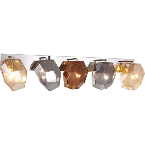 Gibeon 5-Light Wall Sconce, Polished Nickel Finish
