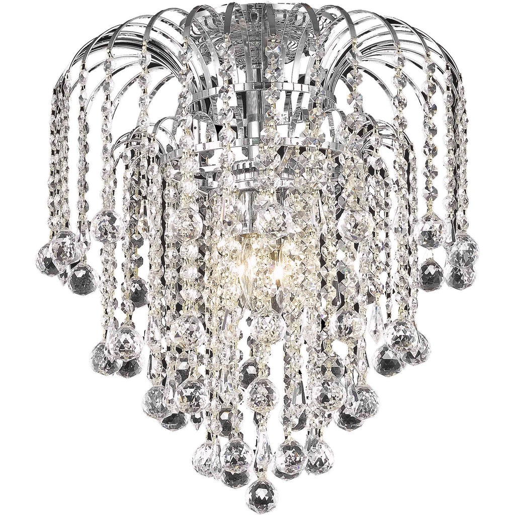 Addison 4 Light Flush Mount Chrome Finish Clear Crystal Royal Cut
