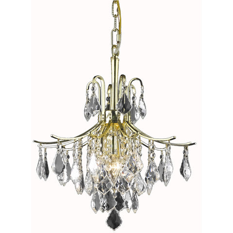 Amelia 6-Light Pendant, Gold Finish, Clear Crystal, Royal Cut