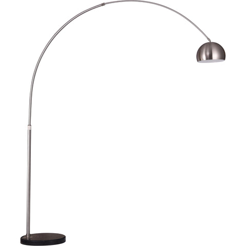 "Arcis 9.5"" Diam x 82.5"" H Floor Lamp, Satin Nickel Finish"
