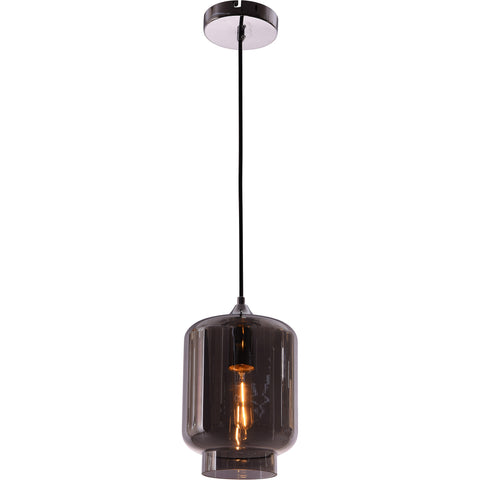 Collins 1-Light Pendant, Smoke Finish