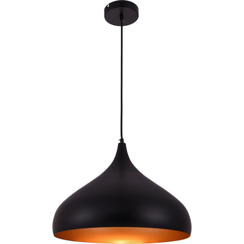 Circa 1-Light Pendant, Black Finish