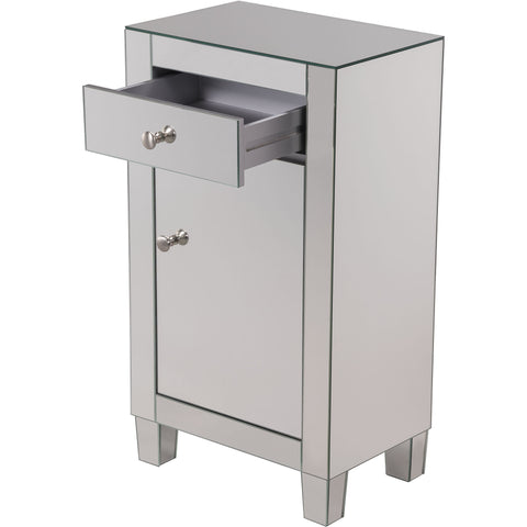 "Contempo 18""x12""x32"" Mirrored Drawer & Door Cabinet"