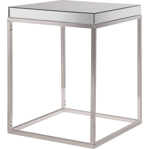 "Contempo 20""x20""x25"" Mirrored Accent Table"