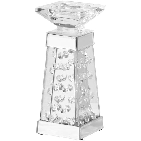 "Sparkle 4"" Contemporary Crystal Candleholder"