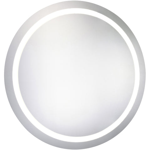 "Nova Dimmable 5000K 30""x30"" Round LED Electric Mirror"