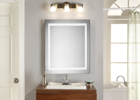 "Nova Dimmable 5000K 28""x28"" Square LED Electric Mirror"