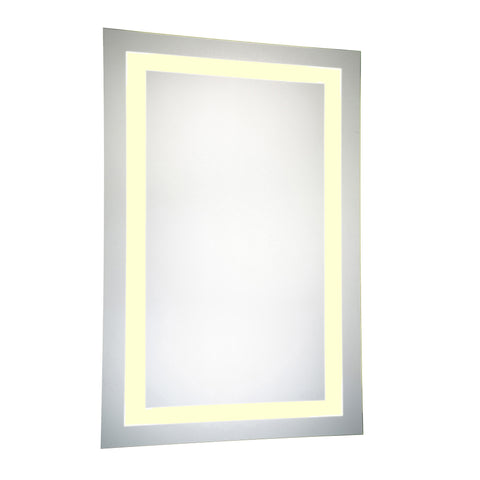"Nova Dimmable 3000K 24""x40"" Rectangle LED Electric Mirror"