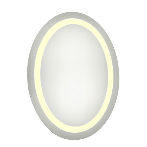 "Nova Dimmable 3000K 21""x28"" Oval LED Electric Mirror"