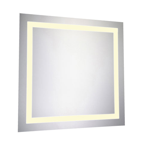 "Nova Dimmable 3000K 28""x28"" Square LED Electric Mirror"