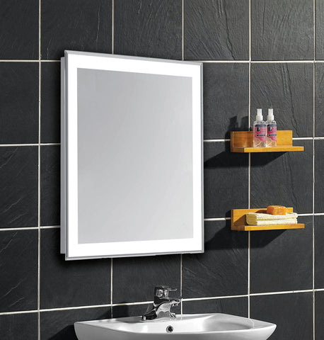 "Nova 4-Side Dimmable 5000K 20""x40"" Rectangle LED Edge Electric Mirror"