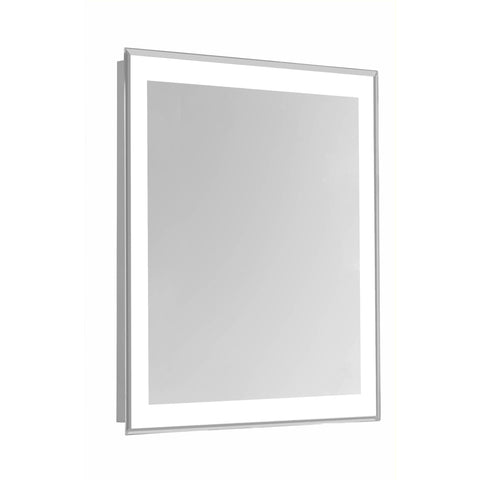 "Nova 4-Side Dimmable 5000K 24""x40"" Rectangle LED Edge Electric Mirror"