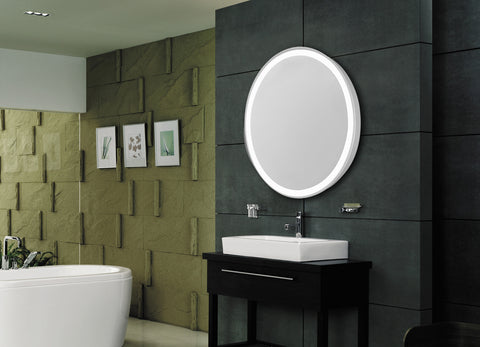 "Nova 4-Side Dimmable 5000K 21""x28"" Oval LED Edge Electric Mirror"
