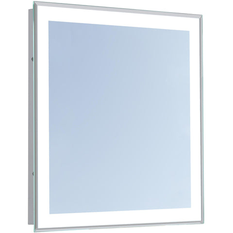 "Nova 4-Side Dimmable 5000K 28""x28"" Rectangle LED Edge Electric Mirror"