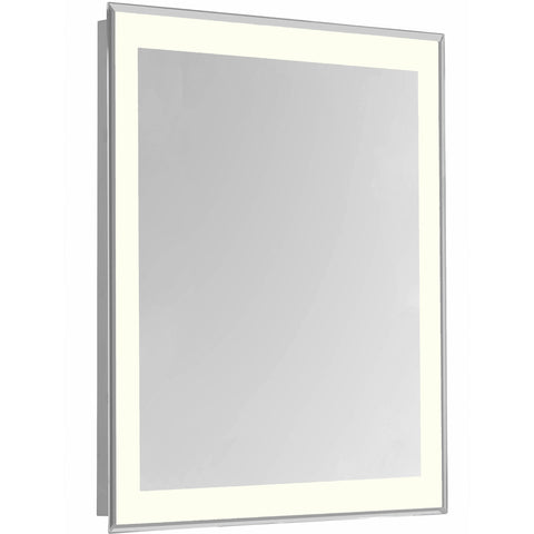 "Nova 4-Side Dimmable 3000K 20""x30"" Rectangle LED Edge Electric Mirror"