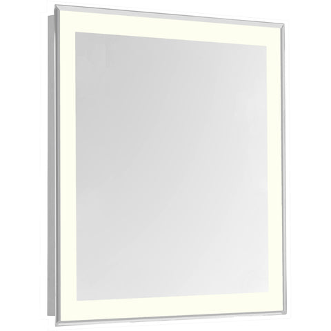"Nova 4-Side Dimmable 3000K 24""x30"" Rectangle LED Edge Electric Mirror"