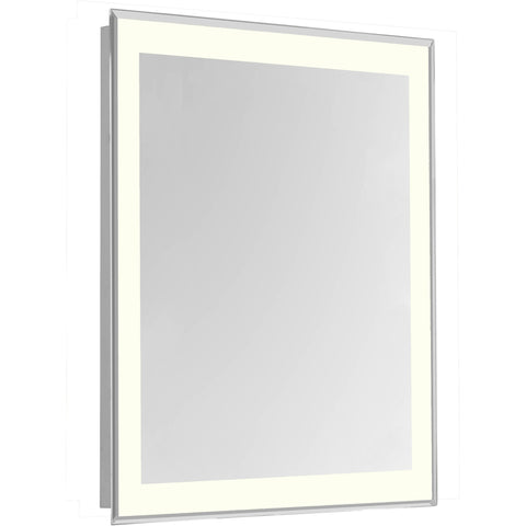 "Nova 4-Side Dimmable 3000K 24""x40"" Rectangle LED Edge Electric Mirror"