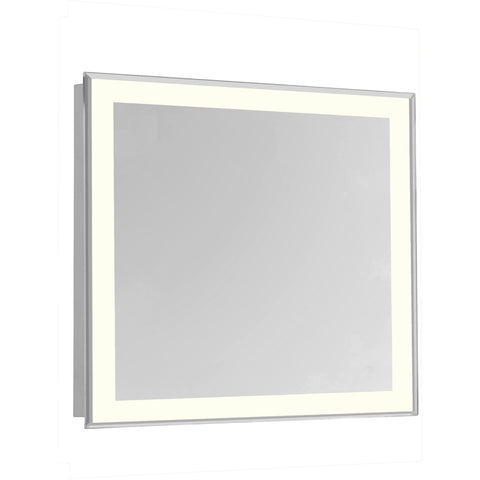 "Nova 4-Side Dimmable 3000K 28""x28"" Rectangle LED Edge Electric Mirror"