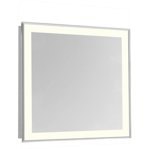 "Nova 4-Side Dimmable 3000K 36""x36"" Rectangle LED Edge Electric Mirror"