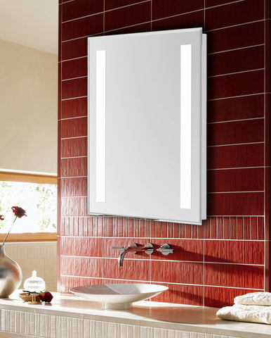 "Nova 2-Side Dimmable 5000K 20""x40"" Rectangle LED Electric Mirror"