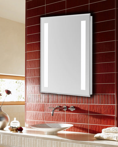 "Nova 2-Side Dimmable 5000K 24""x40"" Rectangle LED Electric Mirror"