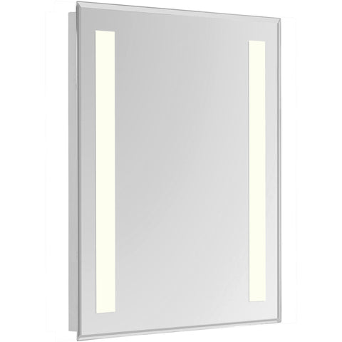 "Nova 2-Side Dimmable 3000K 24""x40"" Rectangle LED Electric Mirror"