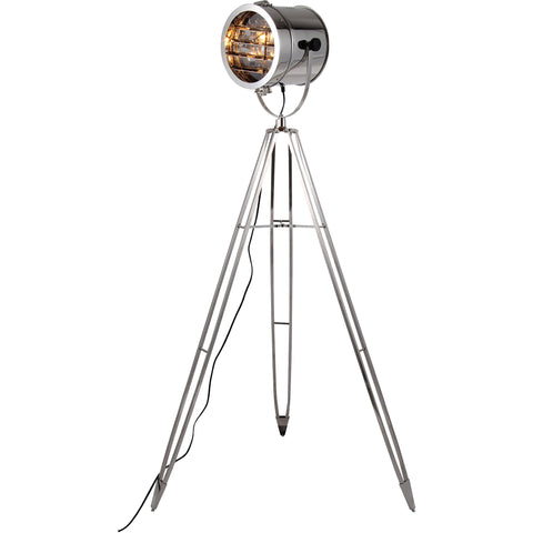 "Ansel Tripod 10"" Diam Floor Lamp, Chrome Finish"
