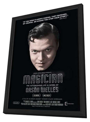 Magician: The Astonishing Life and Work of Orson Welles 11x17 Framed Movie Poster (2014)