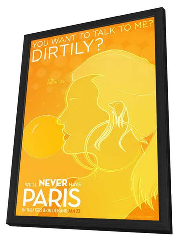 We'll Never Have Paris 11x17 Framed Movie Poster (2015)