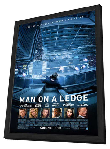 Man on a Ledge 27x40 Framed Movie Poster (2012)