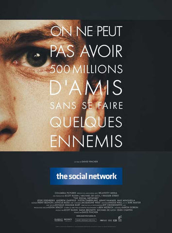 The Social Network (French) 27x40 Movie Poster (2010)