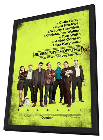 Seven Psychopaths 27x40 Framed Movie Poster (2012)
